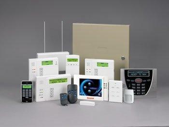 Honeywell security alarm panel and keypads