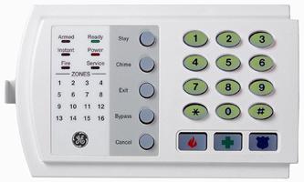 GE NX 116E keypad