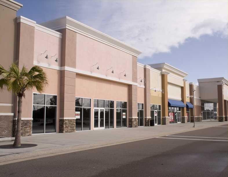 commercial security system installation in strip center in Houston